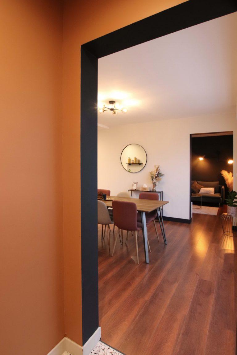 sophie-pico-architecte-interieur-appartement-renovation-montpellier-entree-couleur-arche-graphique-ligne-noire